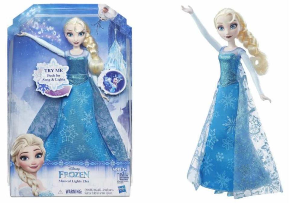 Walmart.com – Disney Frozen Musical Lights Elsa Only $9.87 (Reg $29.88) + Free Store Pickup!