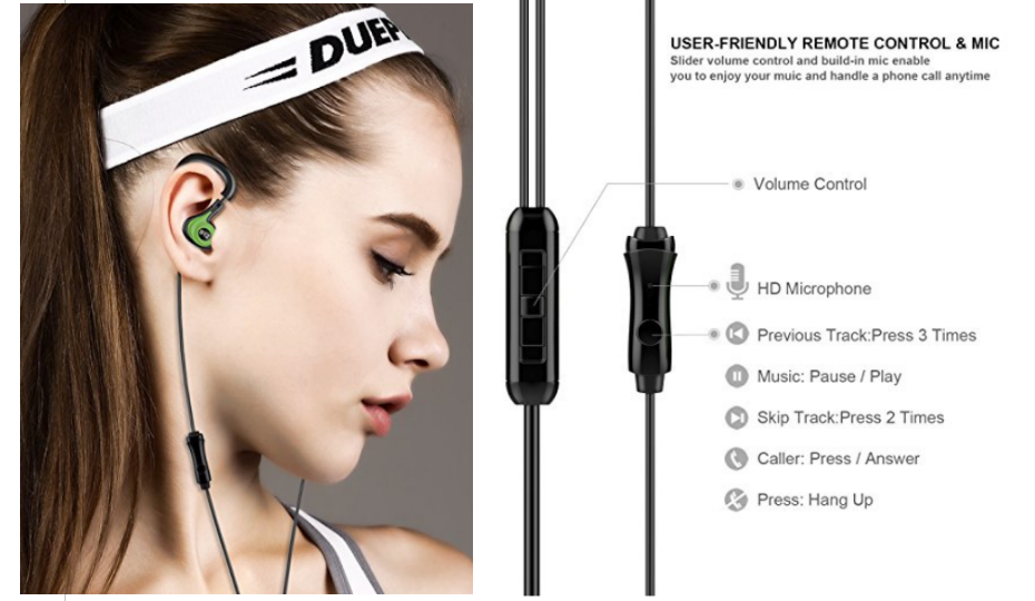 Amazon – BYZ-K62 Earbuds with Microphone and Volume Control Only $4.96