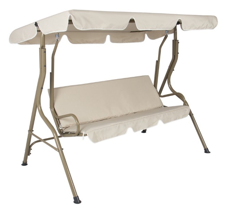 Outdoor 2-Person Canopy Swing Glider (Beige) Only $59.99 (Reg $199.99) + Free Shipping!