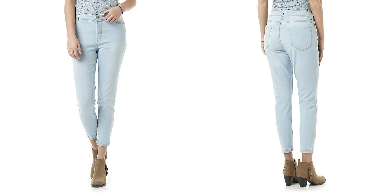 3185f1284f3a7 For feel-good style in a flattering silhouette, choose these women's skinny  jeans from Route 66. These mid-rise denim pants have a stretch fit and a  tapered ...