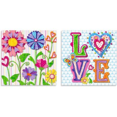 Walmart – Oopsy Daisy Too Hearts Canvas Wall Art, Flowers, Set of 2 Only $3.66 (Reg $22.30) + Free Store Pickup