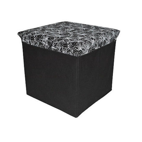 Kmart – Essential Home Black Storage Ottoman – Floral Only $7.99 (Reg $15.99) + Free Store Pickup
