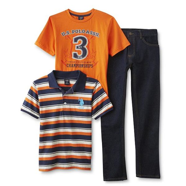 Sears – U.S. Polo Assn. Boys' Polo Shirt, T-Shirt & Jeans – Striped Only $23.99 Through 10/21/17 (Reg $48.00) + Free Store Pickup