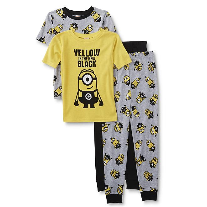 Bring colorful comfort to his nightly routine with these two pairs of boys   Despicable Me pajamas from Universal Pictures. Crafted in breathable  all-cotton ... e18d09e65