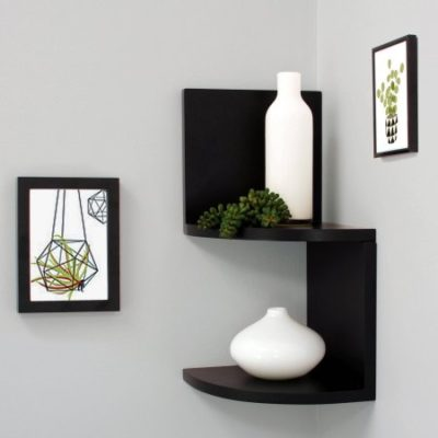 Walmart – Kiera Grace Priva 7″ Corner Shelves, Black, Set of 2 Only $13.94 (Reg $15.99) + Free Store Pickup