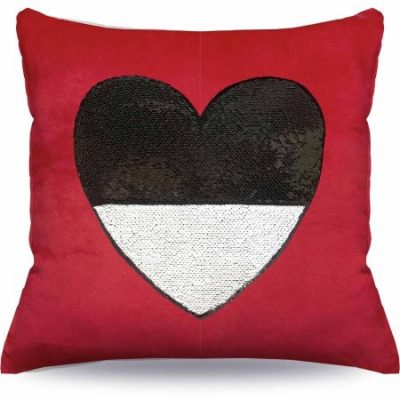 Walmart – Mainstays Sequin Heart Decorative Pillow Only $7.00 (Reg $9.94) + Free Store Pickup
