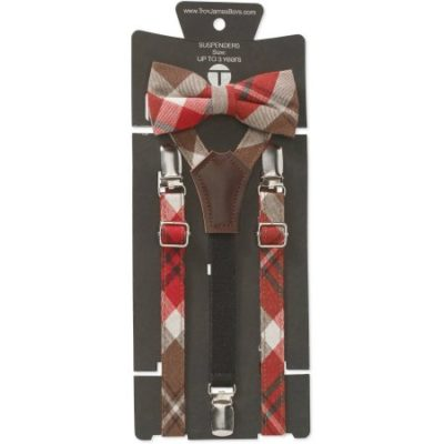 Walmart – Troy James Genevieve Goings Collection Boys Brown Plaid Bow Tie and Suspenders 2 pc Set Only $5.50 (Reg $10.88) + Free Store Pickup