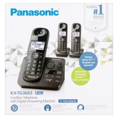 Walmart – Panasonic Cordless 3hs Expandable Phone Only $49.00 (Reg $79.00) + Free 2-Day Shipping