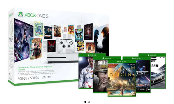 Microsoft – Xbox One Console Bundle + 2 Free Games Only $249.00 Shipped! (Reg $350)