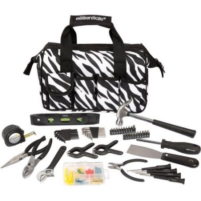 Walmart – Essentials 53-Piece Around-The-House Tool Kit, Zebra Only $19.97 (Reg $24.68) + Free Store Pickup