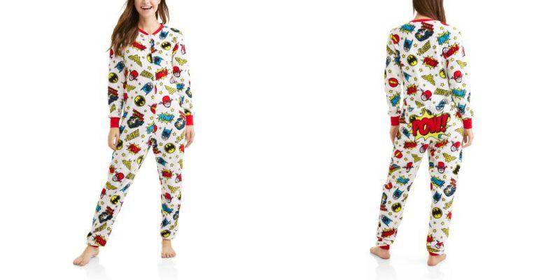 Walmart – Wonder Woman Women's and Women's Plus Dropseat Pajama Union Suit One Piece Sleepwear Only $15.00 (Reg $19.98) + Free Store Pickup