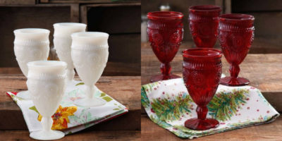 Walmart – The Pioneer Woman Adeline 12 oz Goblet, Set of 4 Only $13.88 (Reg $19.68) + Free Store Pickup