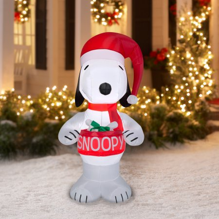 greet your guests with this festive airblown inflatable airblown inflatables are a perfect way to easily create your own winter wonderland