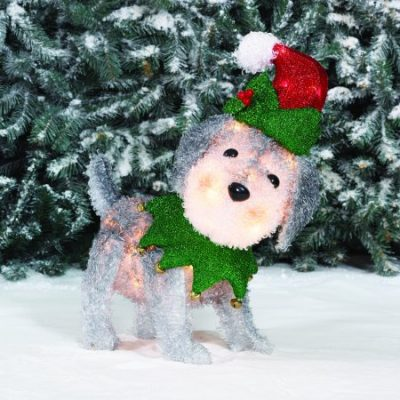 Walmart – Holiday Time Light-up Fluffy Schnauzer Christmas Decoration Only $15.99 (Reg $19.84) + Free Store Pickup