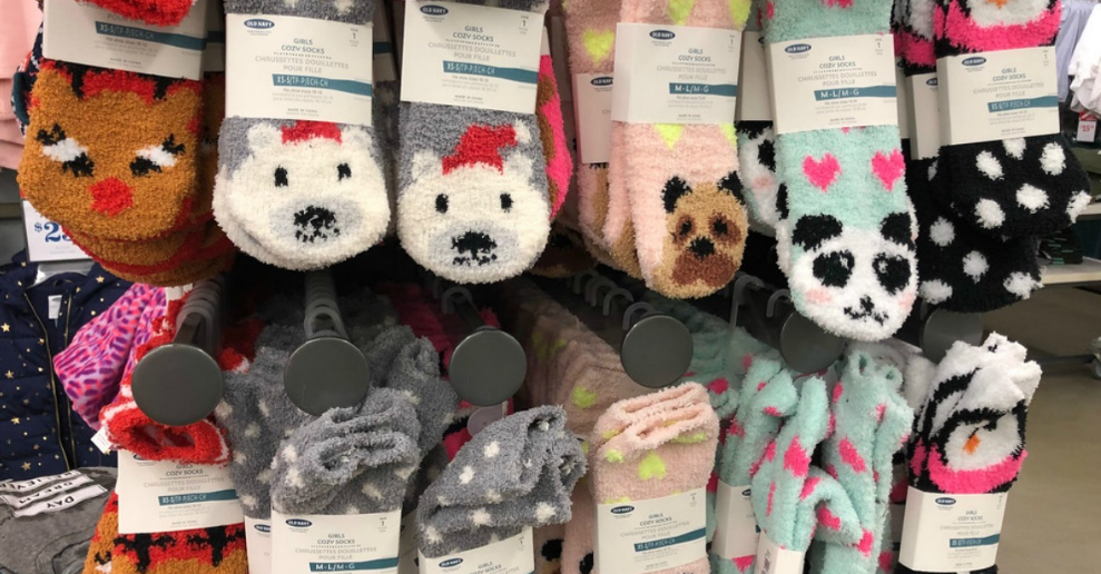 Old Navy – Today Only (12/09/17) Cozy Socks Just $1 each – In Store Only!