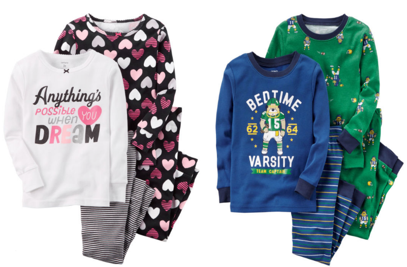 JCPenney – Carters 4-Piece Pajama Sets Only $7.99 Reg $34.00