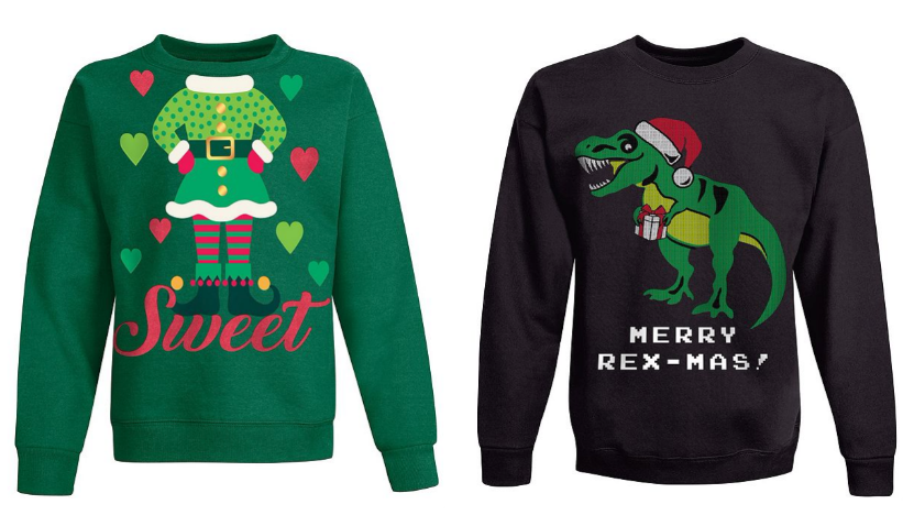 Hanes.com – Ugly Christmas Sweatshirts, Adults 2 for $8, Kids' 2 for $4.80 + Free Shipping!