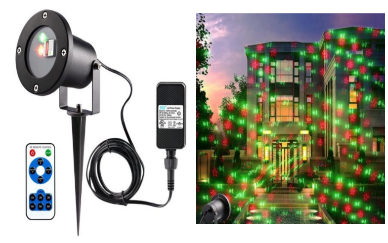 Walmart – Waterproof Christmas Laser Lights, Red & Green With Wireless Control And 20 Patterns For Only $16, Reg $48