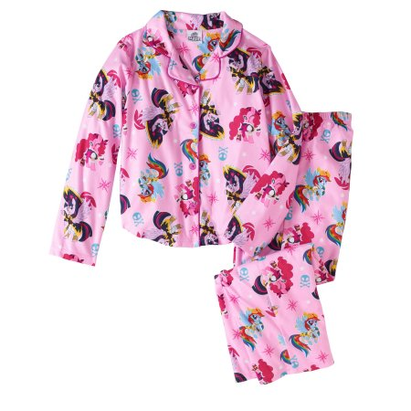 246c62a1f She'll love sleeping and lounging around the house in this girls' two-piece  sleepwear set inspired by the My Little Pony franchise. Both a long-sleeve  top ...
