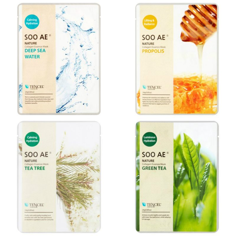 Walmart – Soo Ae Collagen Essence Face Masks, 4 Pack Only $9.88 (Reg $13.20) + Free Store Pickup