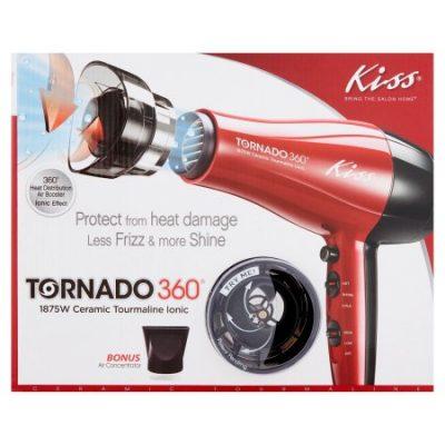 Walmart – Kiss Tornado 360 Heat Protection Air Booster 1875 Watt Ionic Hair Dryer Only $19.95 (Reg $24.99) + Free Store Pickup