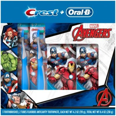 Walmart – Oral-B and Crest Kid's Holiday Pack Featuring Marvel's Avengers Only $7.09 (Reg $13.17) + Free Store Pickup