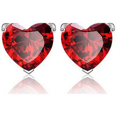 Walmart – A&M Sterling Silver Heart-Shaped Earrings, Red Only $8.67 (Reg $33.00) + Free Store Pickup