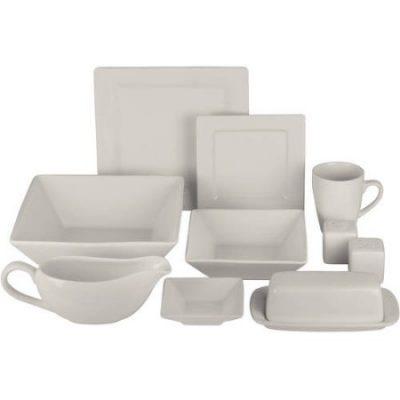 Walmart – Nova 24-Piece Square Dinnerware Set Plus 10 Bonus Serving Pieces Only $29.99 (Reg $41.00) + Free Store Pickup