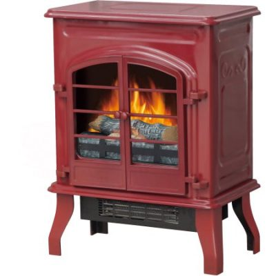 Walmart – Decor-Flame Electric Stove Heater, Glossy Red Only $59.00  (Reg $79.00) + Free Store Pickup