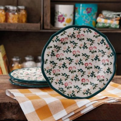 Walmart – The Pioneer Woman Fall Flowers Salad Plate Set, 4-Pack Only $8.88 (Reg $15.88) + Free Store Pickup