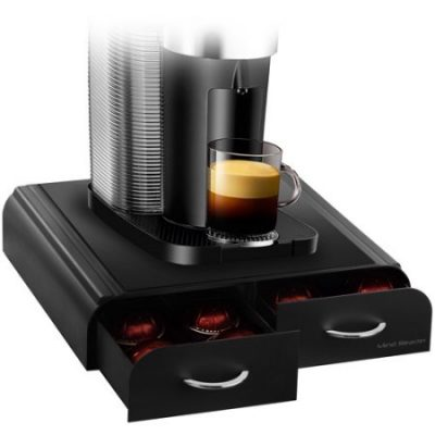 Walmart – Mind Reader Vue/Tassimo/Vertuoline Coffee Pod Double-Drawer Dispenser, Black Only $9.90 (Reg $19.49) + Free Store Pickup