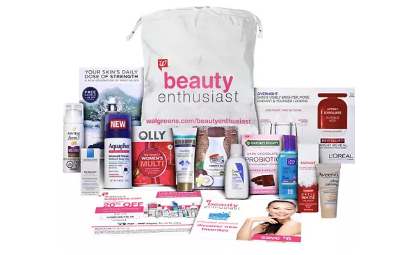 Walgreens.com–FREE Beauty Sample Bag ($30 value)With A $20 Beauty And Personal Care Purchase