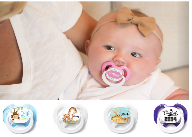 Three (3) FREE Customized Pacifiers From Mothers Lounge – Choose From Your Favorite Sports Team, Cartoon Character And Lots More!
