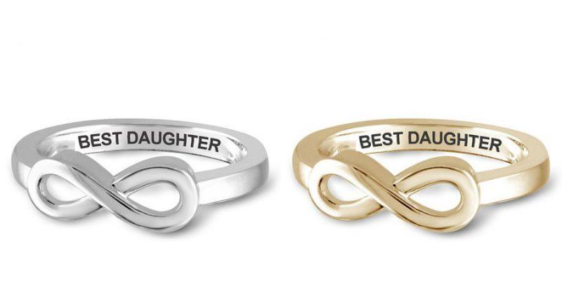 "Walmart – JewelersClub ""Best Daughter"" Infinity Loop Message Ring In Gold or Sterling Silver Only $12.99-$14.00 (Reg $14.00) + Free Store Pickup"