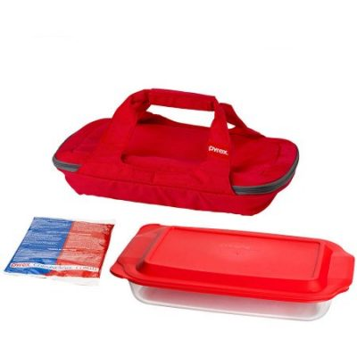 Walmart – Pyrex Bright Red Portable with 3-Quart Oblong Baker and Hot/Cold Pack Only $19.78 (Reg $26.88) + Free Store Pickup