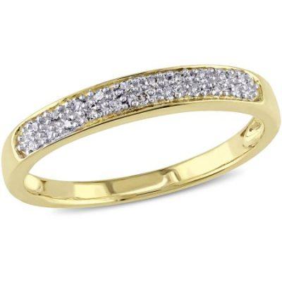 Walmart – Miabella 1/10 Carat T.W. Diamond 10kt Yellow Gold Anniversary Ring Only $146.99 (Reg $169.00) + Free 2-Day Shipping