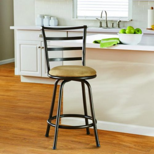 Walmart – Mainstays 24″ Ladder Back Swivel Barstool with Microfiber Cushion, Tan Only $25.99 (Reg $29.97) + Free Store Pickup