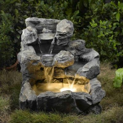 Walmart – Rock Creek Cascading Outdoor/Indoor Fountain with Illumination Only $128.18 (Reg $188.99) + Free Shipping