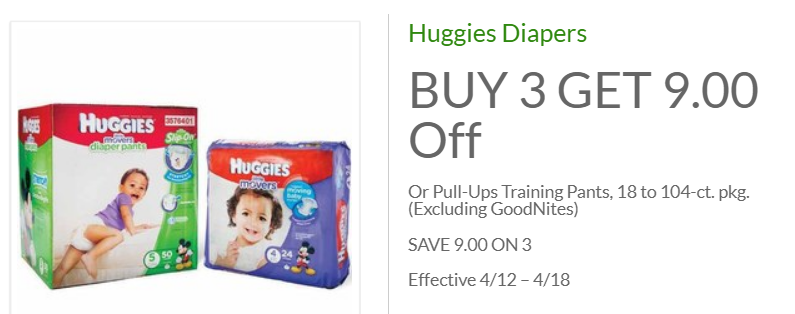 Huggies Diapers ONLY $1.99 A Pack At Publix!