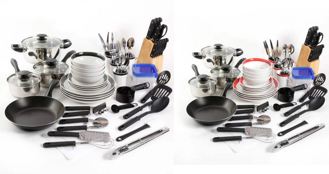 walmart - gibson home essential total kitchen 83-piece combo set