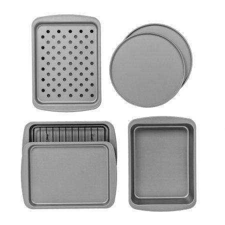 Walmart Bakereze 8 Piece Non Stick Toaster Oven Bakeware