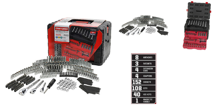 Sears – Buy Craftsman 320-Piece Mechanic's Tool Set at $170 (Reg $300) , Receive FREE 10 pc Ratcheting Wrench Set Valued at $80, Plus Receive $125 CASHBACK in Points
