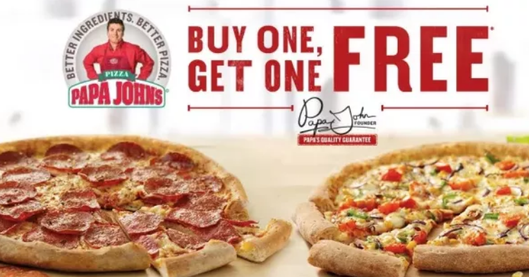 Papa John's – Buy One Pizza Get One FREE (Today Only)