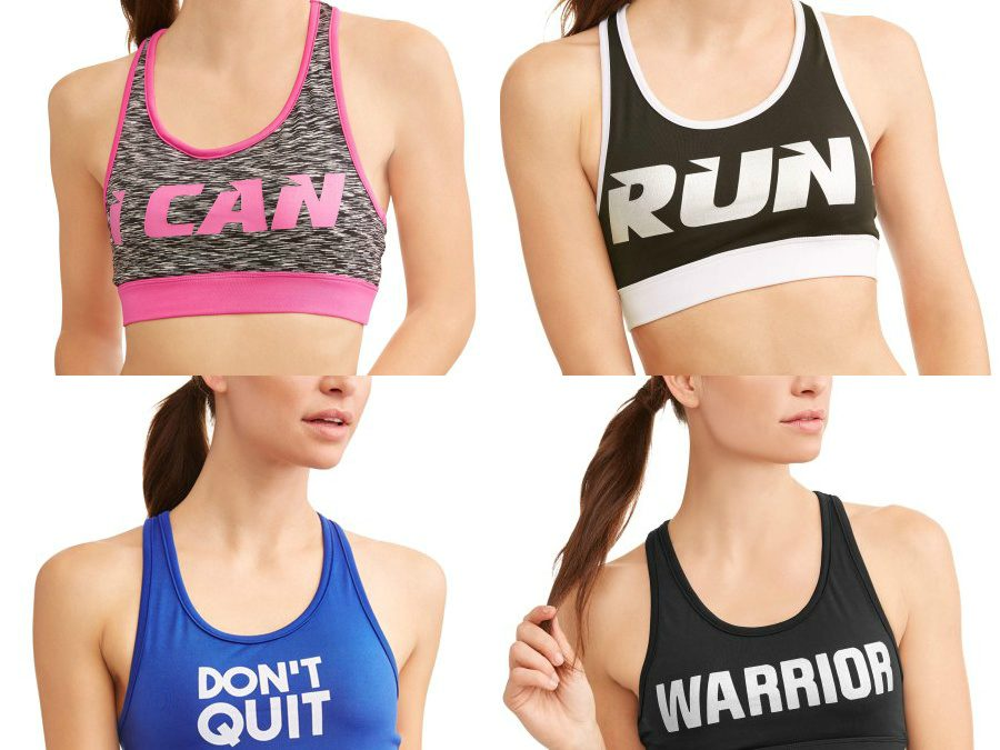 Walmart – Women's Active Graphic Fitspiration Performance Sports Bra Only $3.50 (Reg $11.96) + Free Store Pickup