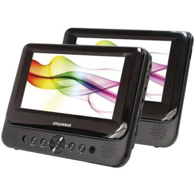 Walmart – Sylvania Sdvd8739 7″ Dual-screen Portable Dvd Player Only $56.00 (Reg $68.96) + Free 2-Day Shipping