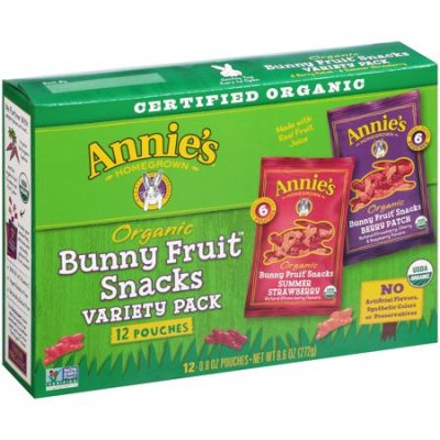 Walmart – Annie's® Organic Bunny Fruit Snacks, Variety Pack, 9.6 Oz, 12 Ct Only $7.48 (Reg $8.48) + Free Store Pickup