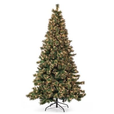 Walmart – Belham Living 7.5ft Pre-Lit Gold Dusted Artificial Christmas Tree with Clear Lights Only $99.98 (Reg $240.00) + Free Shipping