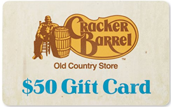 Cracker Barrel – Buy One $50 Gift Card, Get One $50 Gift Card Free