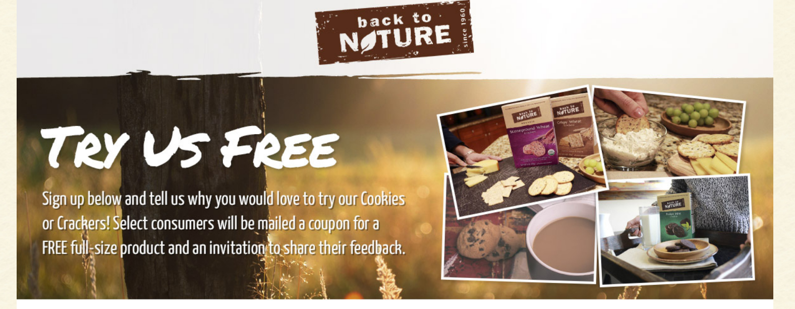 Free Full Size Box Of Back to Nature Crackers or Cookies