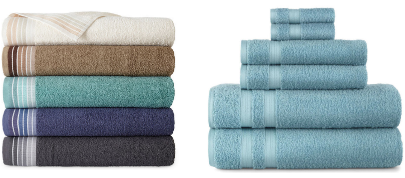 JCPenney.com – Home Expressions 27×52 Ombre Stripe OR Solid Bath Towels Only $2.99 Each